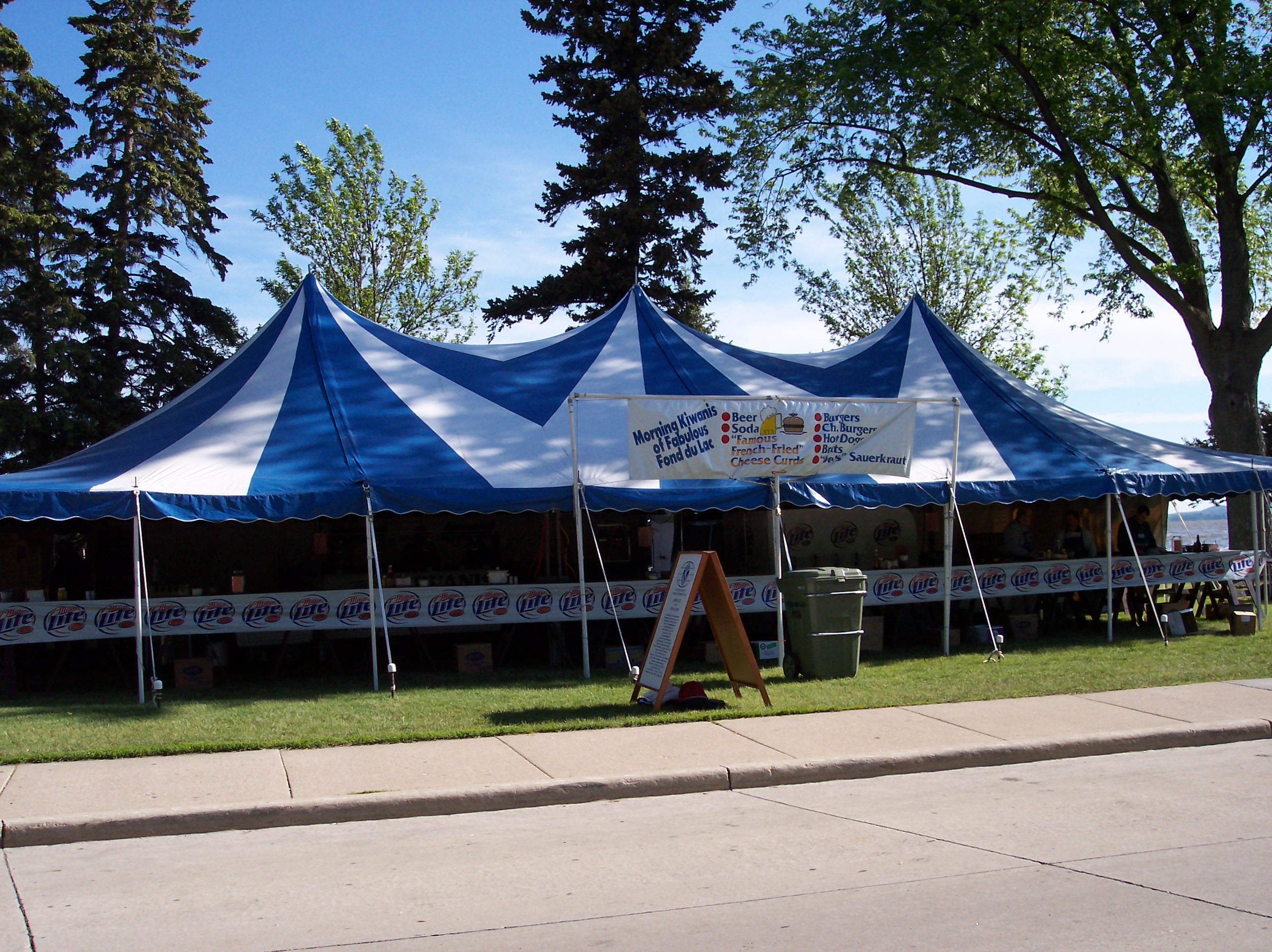 Kiwanis Walleye Weekend tent